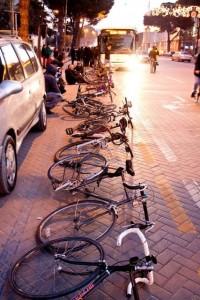 Protesta per te liruar korsite e bicikletave